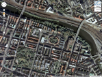 Sankt Eriksvarteren from the air. Picture taken from Google Maps.