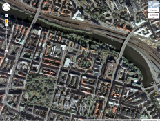Sankt Eriksvarteren from the air. Picture taken from Google Maps.