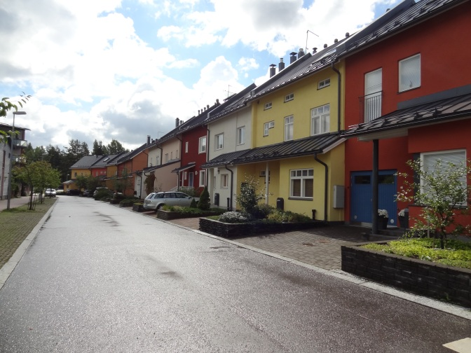 Townhouses in Malminkartano, Helsinki.