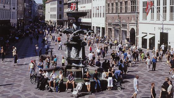 Life along Copenhagen's Strøget.