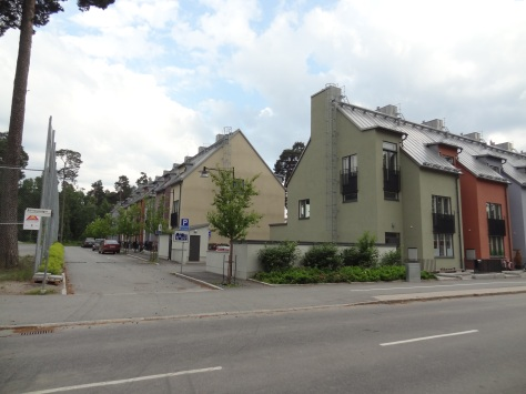 Townhouses in Kärrtorp, Stockholm.