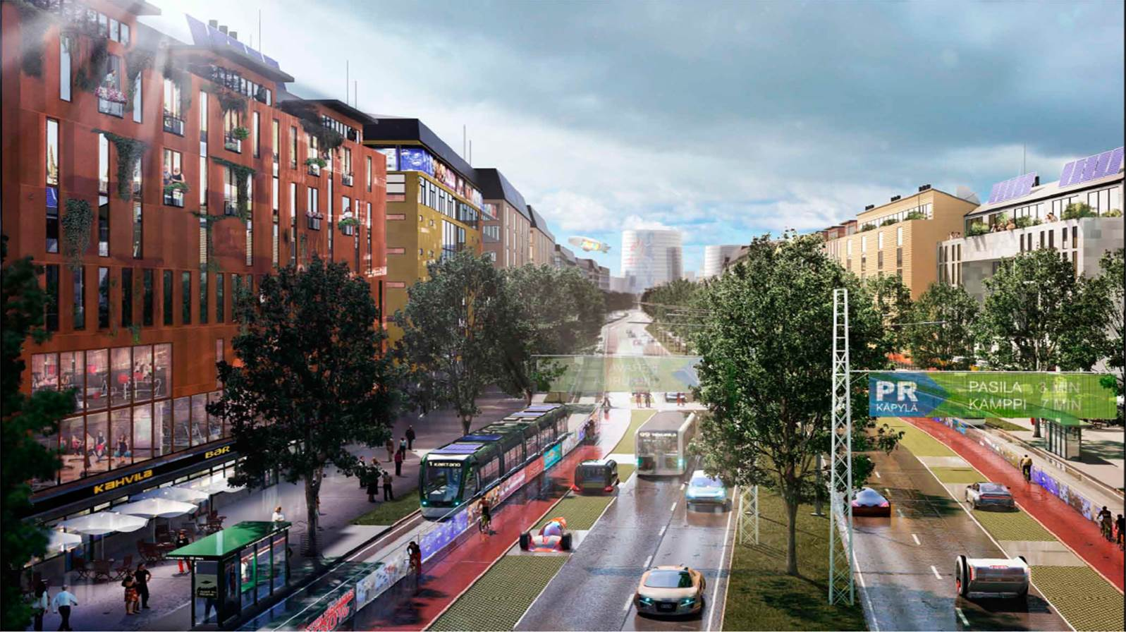 Urban plan Helsinki Finland ai