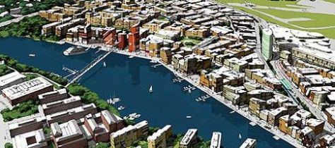 Imagining the Ulvsunda area in Stockholm. Picture courtesy of David Wiberg/City of Stockholm.