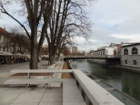 River view in Ljubljana.