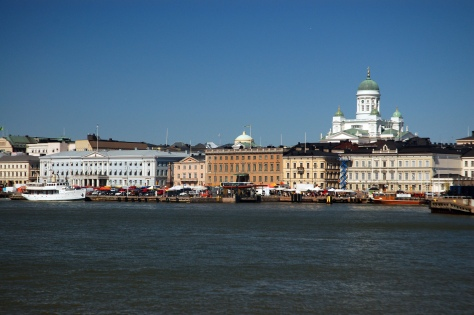 Helsinki's South Harbor. View towards Market Square. Photo source: Wikimedia Commons.