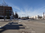 Just a few hundred meters from the station in Malmi. Open streetscapes. The railway is on the right.
