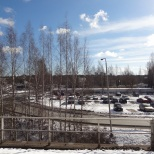 Picture taken from the platform at Pukinmäki train station.