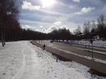 Oulunkylä train station is just behind my back here.