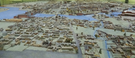 My great-grandfather Mauri Pesonen helped build this 12.2 sqm scale model displaying Tampere in 1890. It took four years to assemble it was finished in 1959. It's now located in Vapriikki.