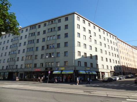 My building in Helsinki's Kallio area.