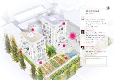 Lähitulevaisuudessa julkaistavan OurNeighborhood -palvelun tarkoituksena on tuoda kaupungeille ja rakennusalan ammattilaisille väline parantaa kaupunkilaisten mahdollisuuksia osallistua kaupunki- ja arkkitehtisuunnitteluprosessiin. Kuvalähde: palvelun Facebook-sivu.