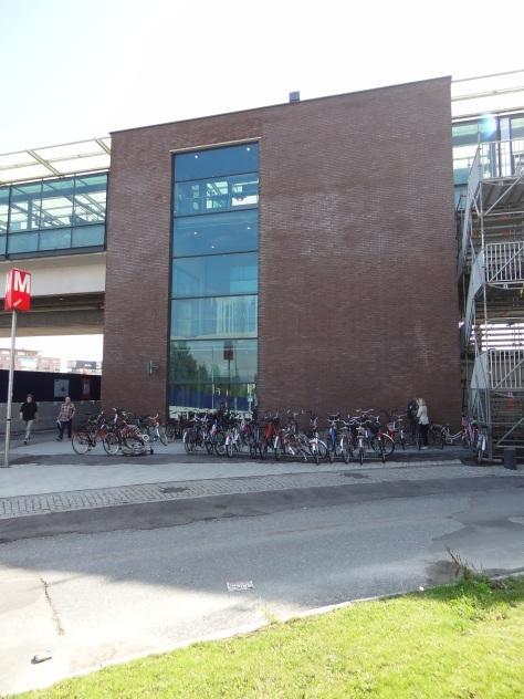 Bike parking in Helsinki.