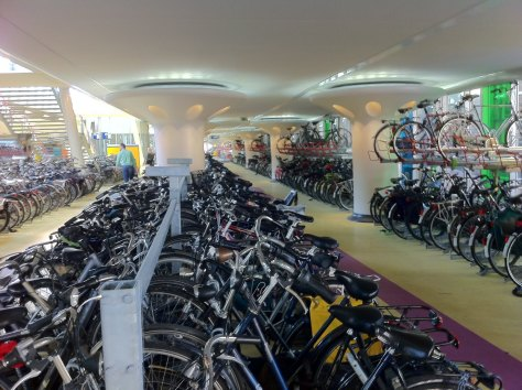 Bike parking in the Netherlands. Image: Lost in the Urban Jungle blog.