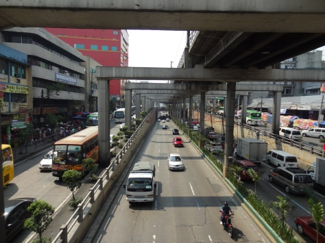 Traffic gets bad in Manila.
