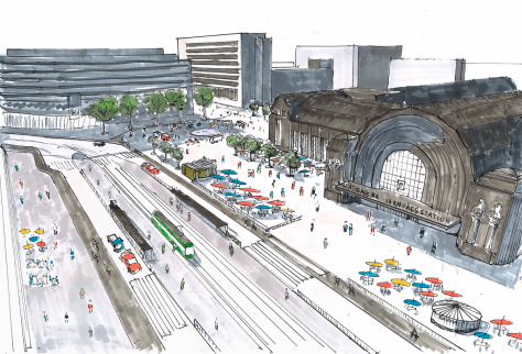 The Urban Helsinki vision for a walkable Helsinki station area. Image by Niilo Tenkanen.